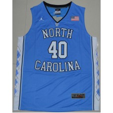 2016 North Carolina Tar Heels Harrison Barnes 40 College Basketball Jersey - Carolina Blue