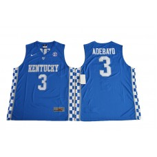 2017 Kentucky Wildcats Edrice Adebayo 3 College Basketball Elite Jersey - Royal Blue
