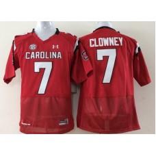 Youth 2016 NCAA South Carolina Gamecock 7 Clowney Red Jerseys