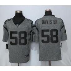 2016 Carolina Panthers 58 Davis sr Gray Men's Stitched Gridiron Gray NEW Nike Limited Jersey