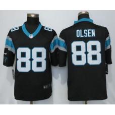 2016 Carolina Panthers 88 Olsen Black Nike Limited Jerseys