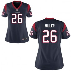 2016 Houston Texans 26 MILLER blue Nike women  Jerseys