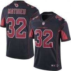 2016 Men  Arizona Cardinals 32 Mathieu Nike Black Color Rush Limited Jersey