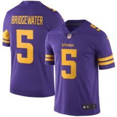 2016 Men Minnesota Vikings 5 Teddy Bridgewater Nike Purple Color Rush Limited Jersey