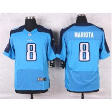2016 Men's Nike Tennessee Titans 8 Marcus Mariota Elite Light Blue Team Color NFL Jersey