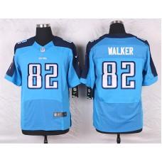 2016 Men's Nike Tennessee Titans 82 Delanie Walker Elite Light Blue Team Color NFL Jersey