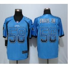 2016 NEW Nike Carolina Panthers 58 Davis sr Drift Fashion Blue Elite Jerseys