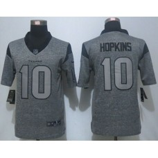 2016 New Nike Houston Texans 10 Hopkins Gray Men's Stitched Gridiron Gray Limited Jersey