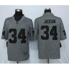 2016 New Nike Oakland Raiders 34 Jackson Gray Men's Stitched Gridiron Gray Limited Jersey