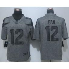 2016 New Nike Seattle Seahawks 12 Fan Gray Men's Stitched Gridiron Gray Limited Jersey