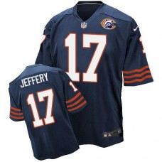 2016 Nike NFL Chicago Bears 17 Jeffery throwback blue jersey