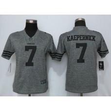2016 Women Nike San Francisco 49ers 7 Kaepernick Gray Stitched Gridiron Gray Limited Jersey