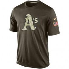 2016 Mens Oakland Athletics Salute To Service Nike Dri-FIT T-Shirt
