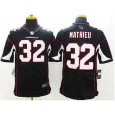 Arizona Cardicals 32 Mathieu Black Nike Limited Jerseys