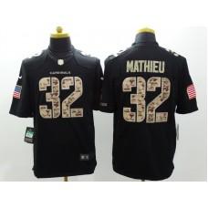 Arizona Cardicals 32 Mathieu Nike Black Salute TO Service Jerseys