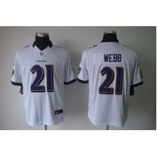 Baltimore Ravens 21 Webb White Nike Limited Jerseys