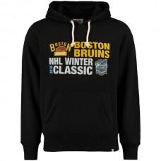 2016 NHL Boston Bruins 47 2016 Winter Classics Crosstown Striker Pullover Sweatshirt - Black