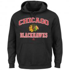 2016 NHL Chicago Blackhawks Majestic Heart Soul Hoodie - Black