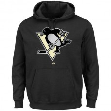 2016 NHL Majestic Pittsburgh Penguins Game Reflex Pullover Hoodie - Black
