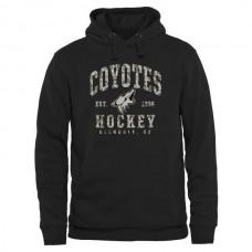 2016 NHL Mens Arizona Coyotes Black Camo Stack Pullover Hoodie