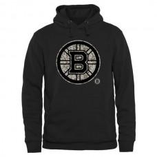 2016 NHL Mens Boston Bruins Black Rink Warrior Pullover Hoodie