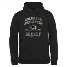 2016 NHL Mens Colorado Avalanche Black Camo Stack Pullover Hoodie