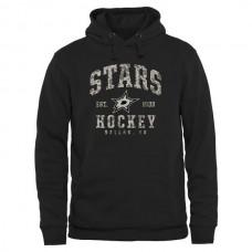 2016 NHL Men Dallas Stars Black Camo Stack Pullover Hoodie