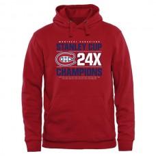 2016 NHL Montreal Canadiens Rinkside Victor Pullover Hoodie - Red