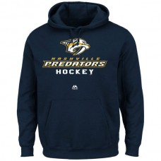 2016 NHL Nashville Predators Majestic Big  Tall Critical Victory Pullover Hoodie - Navy Blue