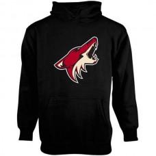 2016 NHL Old Time Hockey Arizona Coyotes Youth Big Logo Fleece Pullover Hoodie - Black