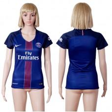 2016 -2017 club Paris St Germain home woman blue soccer jerseys