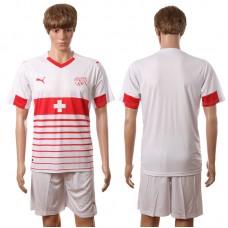 European Cup 2016 Switzerland away blank white soccer jerseys