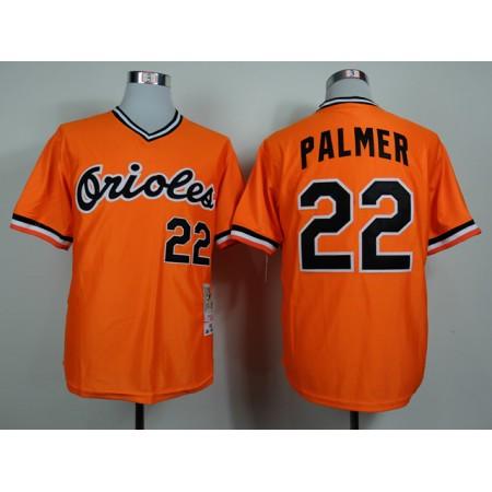 MLB Baltimore Orioles 22 Palmer Orange 1982 Jerseys