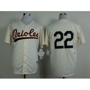 MLB Baltimore Orioles 22 Jim Palmer Gream 1954 Turn The Clock Jersey