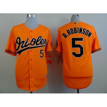 MLB Baltimore Orioles 5 B.Robinson orange Throwback Jerseys