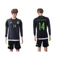 2015 Mexico Copa America 14 CHICHARITO Long Sleeve Home Jersey