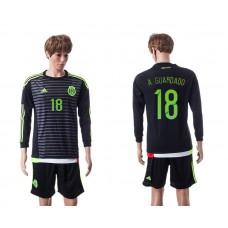 2015 Mexico Copa America 18 A.GUARDADO Long Sleeve Home Jersey